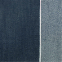 *3 YD PC--Blue Cotton Slub Japanese Selvedge Denim