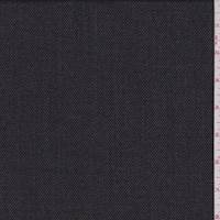 *7/8 YD PC--Black/Stone Gabardine Wool Suiting