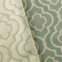*2 YD PC--Stone Teal/Ivory Moroccan Jacquard Home Decorating Fabric