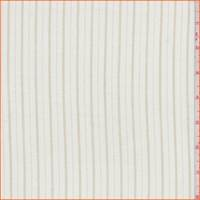 Warm Ivory Pinstripe Wool Blend Suiting
