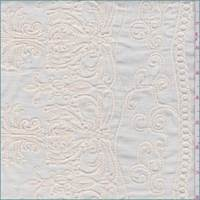 Cornsilk Embroidered Baroque Cotton