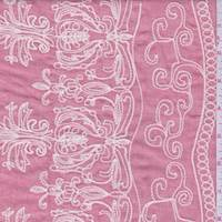 Oxford Red Embroidered Baroque Cotton