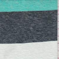 Seafoam/Midnight Stripe Sweater Knit