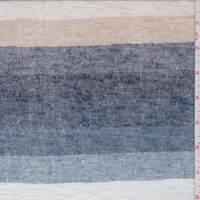 Slate/Beige/Tan Stripe Sweater Knit