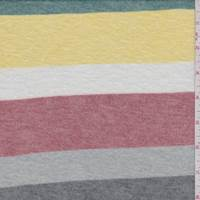 Yellow/Brick/Grey Stripe Sweater Knit