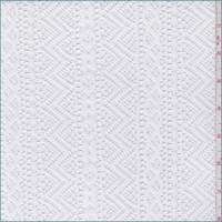 White Stripe Crochet Lace