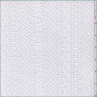 White Stripe Crochet Lace