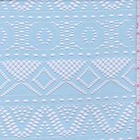 Pale Turquoise Stripe Mesh Lace