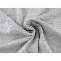 *2 YD PC--Heather Gray Cotton Blend Sparkle Rib Knit