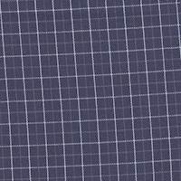 *4 YD PC--Navy Plaid Wool Blend Suiting