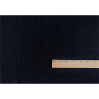 *2 1/4 YD PC--Midnight Black Wool/Cotton Herringbone Twill