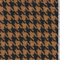 *1 YD PC--Orange/Walnut Houndstooth Wool Coating