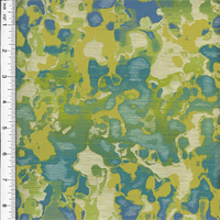 *1 5/8 YD PC--Turquoise/Green Silk Rousseau Jacquard Home Decorating Fabric