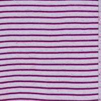 Champagne/Magenta Stripe T-Shirt Knit