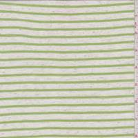 Heather/Lime Stripe T-Shirt Knit