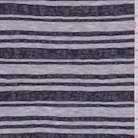Grey/Black Stripe Jersey Knit