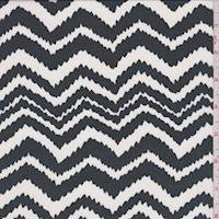 White/Black Jagged Chevron Georgette