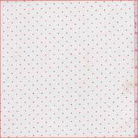 White/Orange Pin Dot Sateen