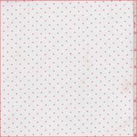 White/Orange Pin Dot Sateen