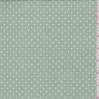 Sage/White Pin Dot Sateen