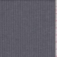 Slate Blue/Grey Stripe Stretch Suiting