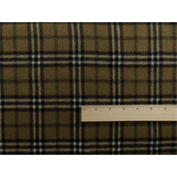 *1 3/4 YD PC--Spice/Black Wool Plaid Flannel Coating
