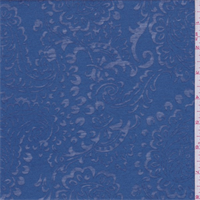 *2 1/8 YD PC--Medium Blue Paisley Burn Out T-Shirt Knit