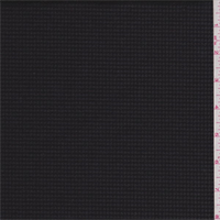 *1 5/8 YD PC--Black Houndstooth Wool Suiting
