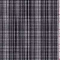 Black/Grey Glen Plaid Suiting