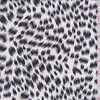 White/Black Cheetah Chiffon