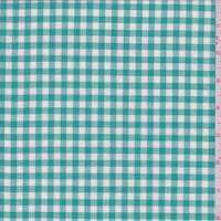 Shamrock Green Gingham Check Lawn