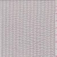 Dark Taupe Stripe Cotton Seersucker