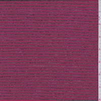 Crimson/Charcoal Stripe Jersey Knit
