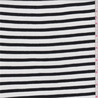 *3 1/8 YD PC--White/Black Stripe Jersey Knit