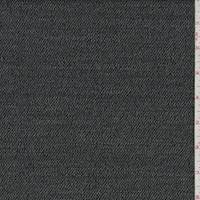 *2 YD PC--Grey Wool Gabardine Twill