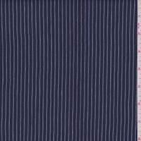 *1 5/8 YD PC--Dark Blue Stripe Linen