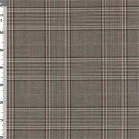 *2 3/4 YD PC--Camel/Brown Glen Plaid Poly Suiting