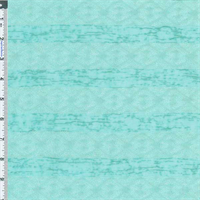 *5 YD PC--Aqua  Lacey-look Stripe Jacquard Knit