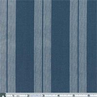*4 3/8 YD PC--Blue Deck Stripe Indoor/Outdoor Fabric