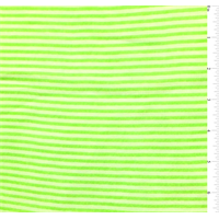 *2 YD PC--Neon Green/White Pinstripe Chiffon