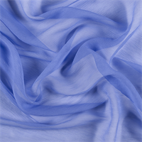 *1 YD PC--Periwinkle Crinkled Silk Chiffon
