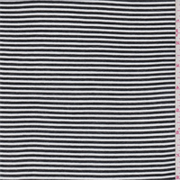 *3 1/8 YD PC--Black/White Pinstripe Rayon Crepe