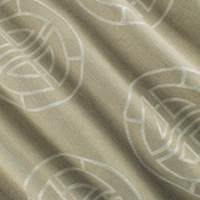 Beige/White Geometric Circle Jacquard Decorating Fabric