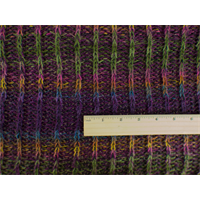 *3 3/4 YD PC--Warm Purple/Multi Wool Sweater Rib Knit