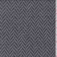 *3 YD PC--Grey/Charcoal Herringbone Wool Sweater Fleece