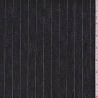 Black/Silver Metallic Stripe Denim