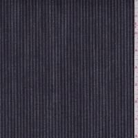 Navy Embroidered Stripe Denim