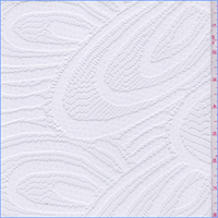 *2 YD PC--Off White Large Floral Lace