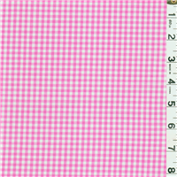 *1 1/2 YD PC--Fuschia 1/8 Inch Gingham