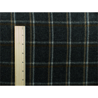 *2 1/3 YD PC--Grey/Brown Wool Plaid Flannel Coating
